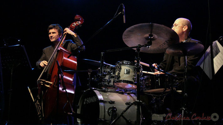 Christophe Jodet, Pascal Legrand; Lo Jay et Serge Moulinier Trio. Festival JAZZ360 2010, Cénac. 12/05/2010