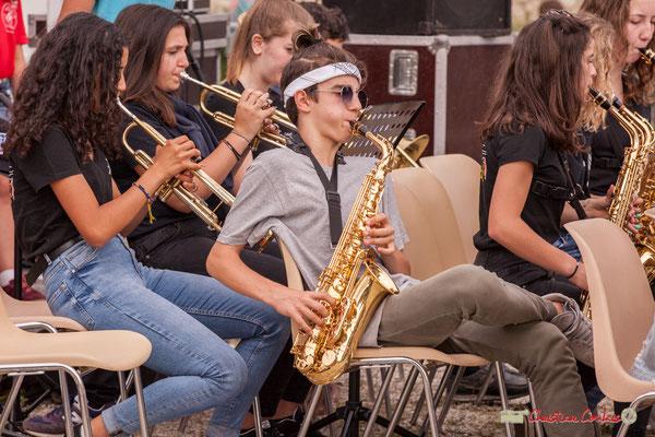 """""""Instruments à vents"""" Big Band Jazz du Collège Eléonore de Provence, dirigée par Rémi Poymiro. Festival JAZZ360 2018, Cénac. 08/06/2018"""