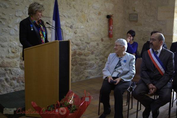 Discours de Françoise Cartron, Vice-présidente du Sénat pour la remise de la Médaille d'Or du Sénat à Suzette Grel. 7 février 2015, Le Pout