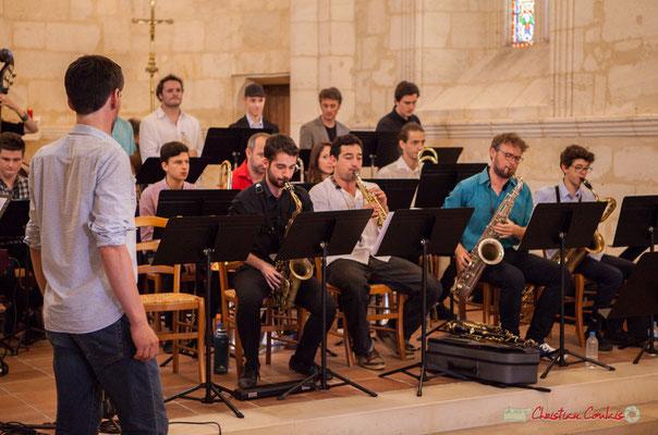 Big Band Jazz du conservatoire de Bordeaux Jacques Thibaud, dirigé par Mathieu Tarot. Festival JAZZ360 2018, Cénac. 09/06/2018