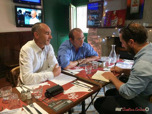 C'est au tour de Christophe Miqueu d'être interviewé par Xavier Sota (Sud-Ouest), candidat la France insoumise sur la 12ème circonscription de la Gironde. Bordeaux, 13 juin 2017