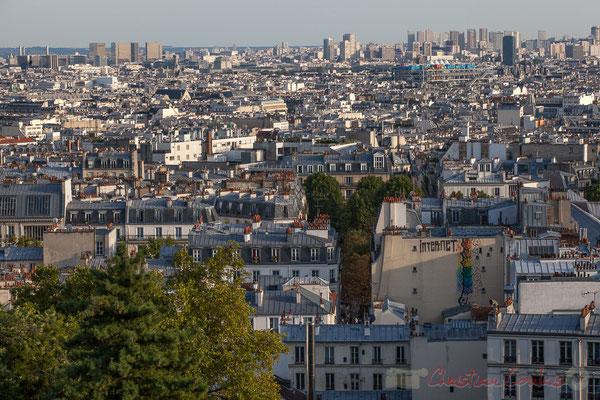 Vue depuis le Sacré-Cœur de Montmartre, Paris 18ème arrondissement