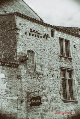Riche demeure du XVIème siècle. Cité médiévale de Saint-Macaire. 28/09/2019. Photographie © Christian Coulais