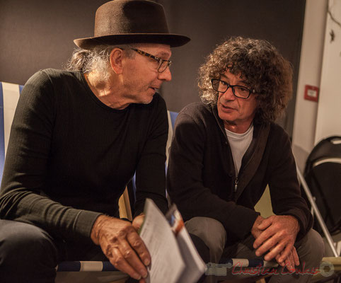 Philippe Cauvin, Lulu Bret, batteur. Le Rocher de Palmer, 12/12/2015. Reproduction interdite - Tous droits réservés © Christian Coulais