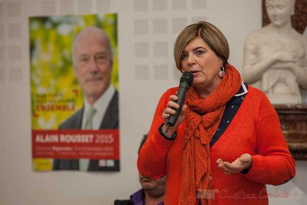 Catherine Veyssy, Vice-présidente du Conseil régional d'Aquitaine, colistière d'Alain Rousset, Maire de Cénac (Gironde)