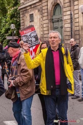 """10h41 Patrick Maupin, référent Climat-Énergie Greenpeace Bordeaux """"Spécial Politis; que reste-t-il de mai 1968 ?"""" Cours d'Albret, Bordeaux. 01/05/2018"""