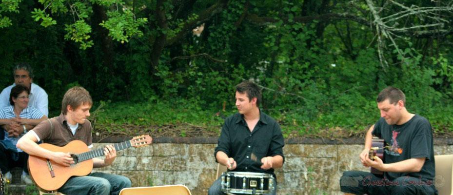 Mathias Monseigne, Hugo Raducanu, Pierre Génin. Randonnée Jazzy organisée par A.L.I.C.E., Citon-Cénac. 04/06/2011