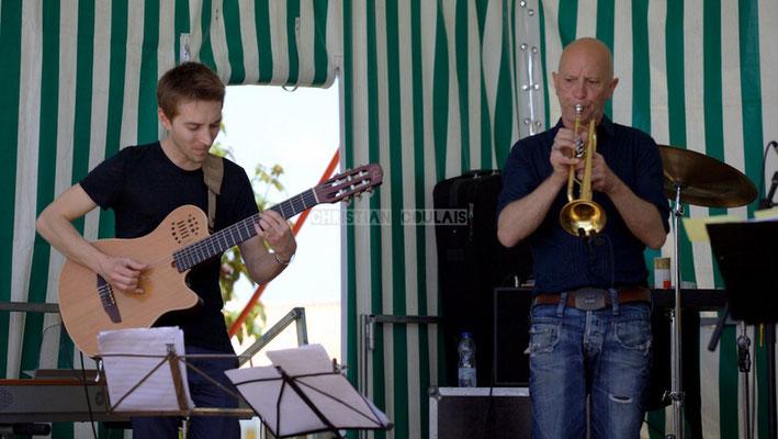 Festival JAZZ360 2014, Jordan Cauvin, Alain Duffort; Jazzméléon Trafic. Cénac, 07/06/2014