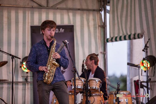 Joachim Poutaraud, Philippe Ciminato; Adrien Brandéis Quintet, Festival JAZZ360 2019, Langoiran. 06/06/2019