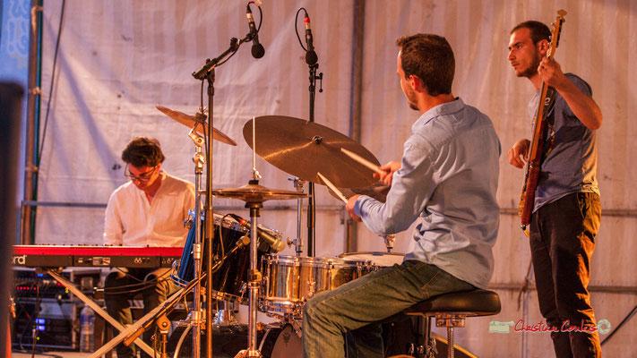 Adrien Brandéis, Félix Joveniaux, Romann Dauneau; Adrien Brandéis Quintet, Festival JAZZ360 2019, Langoiran. 06/06/2019