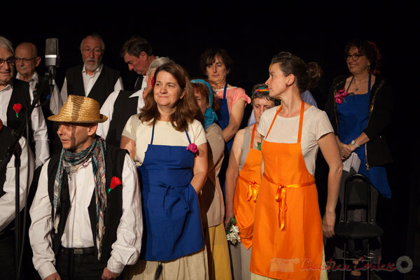 Echauffement, les Choraleurs chantent Carmen in Swing, Cénac