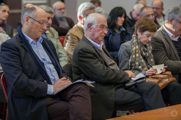 Bernard Gautier, Maire de Fargues-Saint-Hilaire; Jean-François Jamet, Maire de Carignan-de-Bordeaux; Françoise Immer, Adjointe au Maire de Pompignac