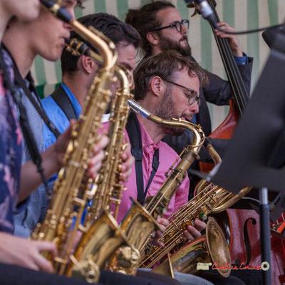 Jérôme Mascotto; Big Band du Conservatoire Jacques Thibaud. Festival JAZZ360 2019, parc du château de Pomarède, Langoiran. 06/06/2019