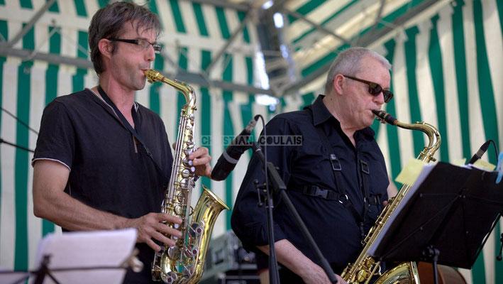 Festival JAZZ360 2014, Thierry Taveaux, Rémy Brown; Jazzméléon Trafic. Cénac, 07/06/2014