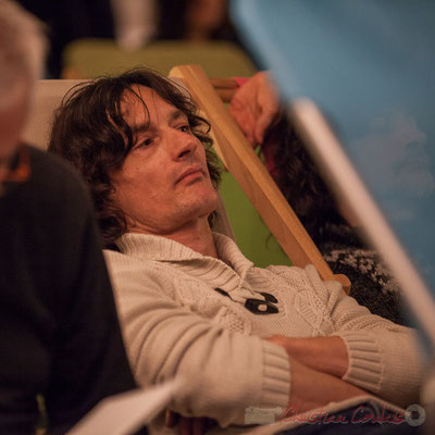 Jean-Luc Payssan, batteur de Minimum vitale. Le Rocher de Palmer, 12/12/2015. Reproduction interdite - Tous droits réservés © Christian Coulais