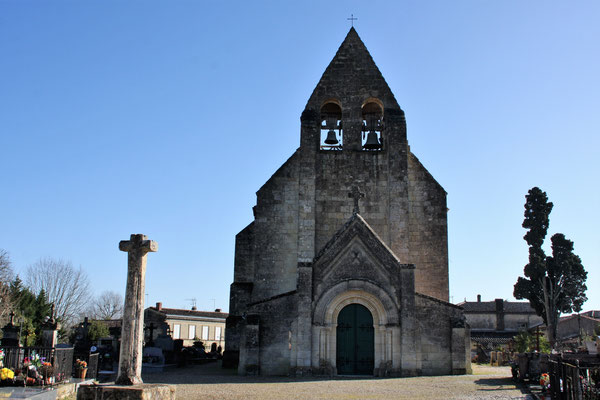 L'église Saint-André, XIIème siècle, par Gaël Moignot. Cénac d'aujourd'hui. 10/02/2018