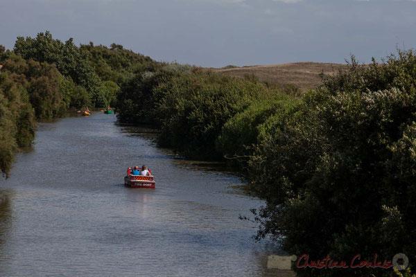 Tourisme fluviale sur le Jaunay. Saint-Gilles-Croix-de-Vie, Vendée, Pays de la Loire