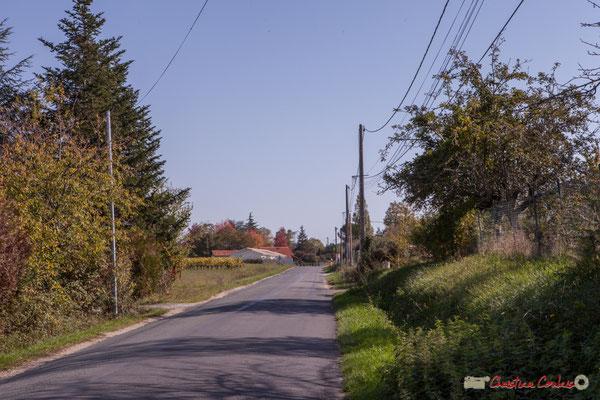 Au carrefour des 4 avenues, l'avenue de Lignan, Cénac, Gironde. 16/10/2017