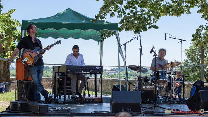 Cyril Amourette, Hervé Saint-Guirons,  Christian Ton Ton Salut; Soul Jazz Rebels. Festival JAZZ360, 10 juin 2017, Camblanes-et-Meynac