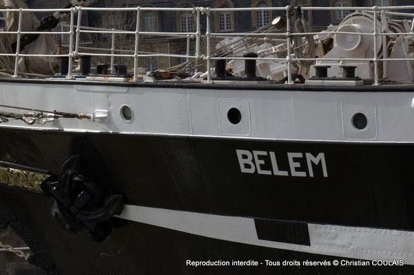 A Etrave du Belem depuis la gabare les Deux Frères, Bordeaux, samedi 16 mars 2015