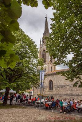 C'est au belvédère de Camblanes-et-Meynac, au pied de l'église Sainte-Eulalie, que se déroule les concerts à Camblanes-et-Meynac. Festival JAZZ360 2016