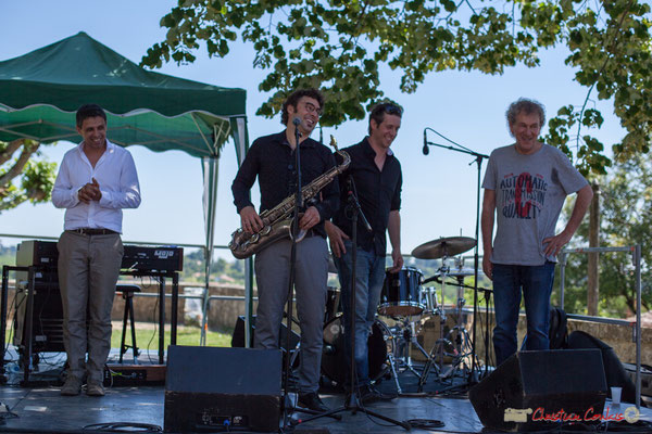 Hervé Saint-Guirons, Jean Vernhères, Cyril Amourette, Christian Ton Ton Salut; Soul Jazz Rebels. Festival JAZZ360, 10 juin 2017, Camblanes-et-Meynac