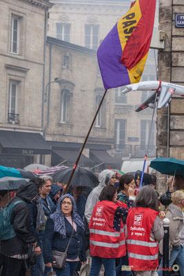 """""""No Pasaran"""" Manifestation contre la réforme du code du travail. Place Gambetta, Bordeaux, 12/09/2017"""