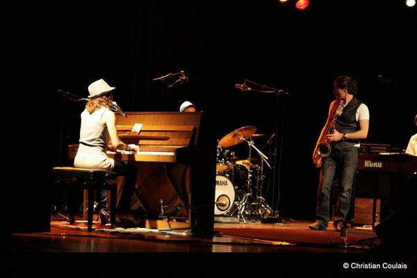 Olinka Mitroshina, Frédéric Borey; Olinka Mitroshina Quartet, Festival JAZZ360 2011, Cénac. 01/06/2011