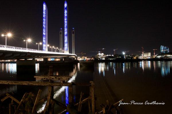 Le pont Jacques-Chaban-Delmas photographié par Jean-Pierre Couthouis. Bordeaux, 27 février 2019