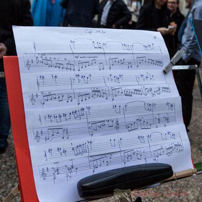 """Partition """"Café 1930"""" d'Astor Piazzolla, (ré)écrite pour saxophone et guitare par Francis Henry. 13/05/2016"""
