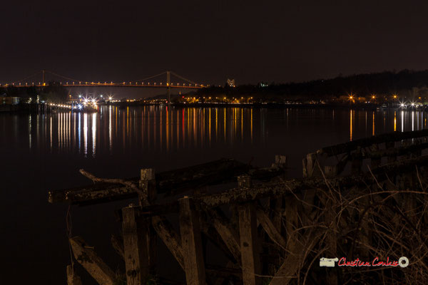 Le pont d'Aquitaine et ses alentours photographié par Christian Coulais. Bordeaux, 27 février 2019