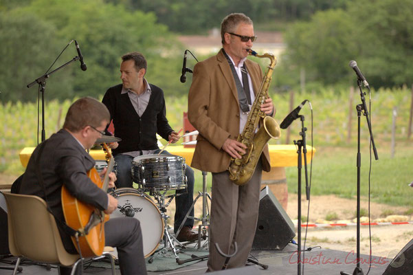 David Blenkhorn, Didier Ottaviani, Alex Golino; Alex Golino & David Blenkhorn Quartet, Festival JAZZ360 2012, château Roquebrune, Cénac, samedi 9 juin 2012
