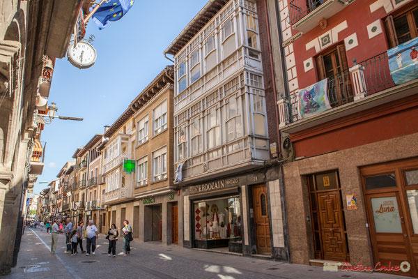 Façade de maison avec oriel, Calle Mayor, Sangüesa, Navarra