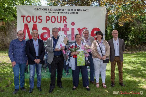 Tous avec Martine...Faure et Jean-Marie Darmian, dix ans de députation et un jubilé d'engagements politiques. 14 mai 2017, Blasimon
