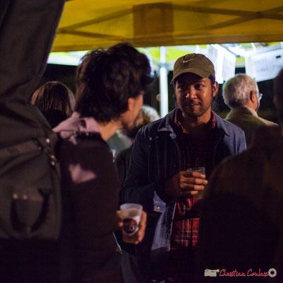 Johary Rakotondramasy, musicien d'Atrisma. Après-concert, Festival JAZZ360, 09 juin 2017