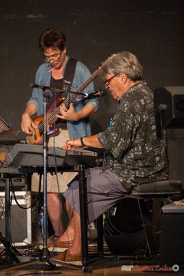 Jules Rousseau, Bernard Lubat. Compagnie Lubat. Concert de soutien des Insoumis de la 12ème circonscription de la Gironde. 28/05/2017, Targon