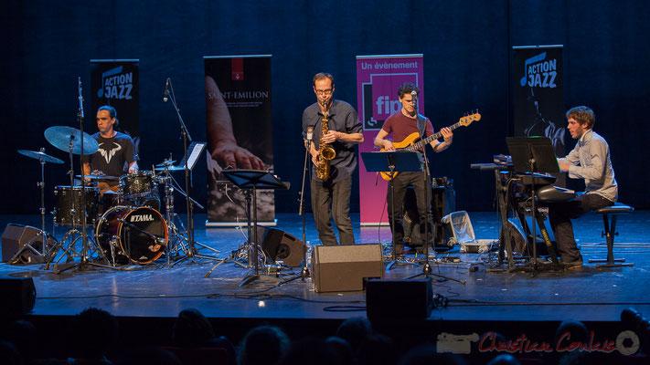 11 Gaétan Diaz, Julien Dubois, Ouriel Ellert, Simon Chivallon, quartet Le JarDin. Tremplin Action Jazz 2017. Le Rocher de Palmer