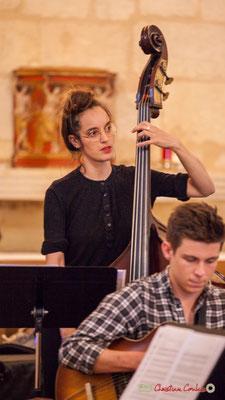 Laure Sanchez, contrebasse; Big Band Jazz du conservatoire de Bordeaux Jacques Thibaud. Festival JAZZ360 2018, Cénac. 09/06/2018