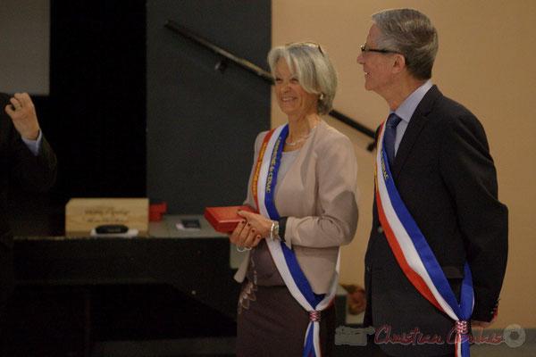 Simone Ferrer et Gérard Pointet, anciens Maires de Cénac, vendredi 3 avril 2015