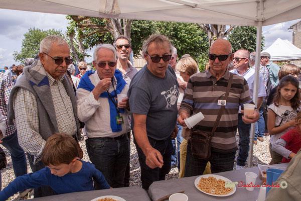Pierre Cazenave, Loïc Cavadore, Richard Raducanu, Daniel Branche au Festival JAZZ360 2019. Apéritif offert par la Mairie de Camblanes-et-Meynac. 08/06/2019