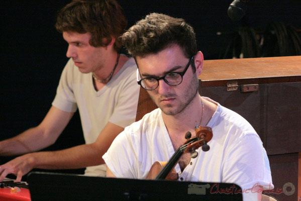 Violoniste, Big Band du Conservatoire Jacques Thibaud, section MMA. Festival JAZZ360, Cénac. 03/06/2011