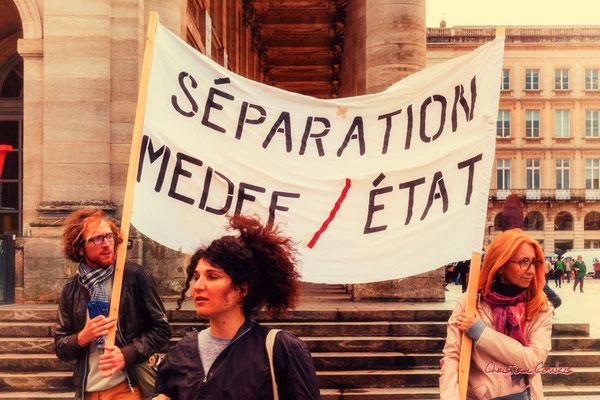 """""""Séparation MEDEF / Etat"""" Manifestation intersyndicale, Bordeaux, mardi 5 octobre 2021. Photographie © Christian Coulais"""