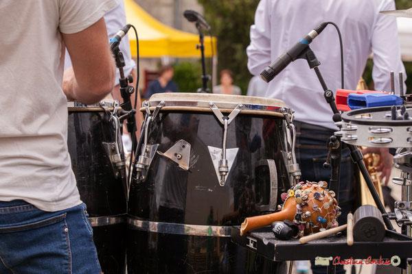 Percussions de Ludo Lesage; Shob & Friends. Festival JAZZ360 2018, Quinsac. 10/06/2018