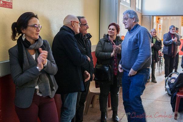 Vœux du Maire de Haux aux administré-es le 14 janvier 2017, en présence de Pierre Gachet, Maire de Créon