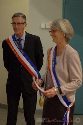Gérard Pointet et Simone Ferrer, anciens Maires de Cénac, vendredi 3 avril 2015