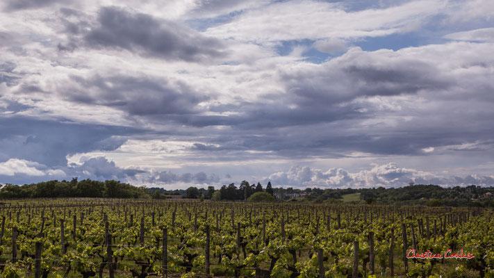 Ciels et nuages, dimanche 19 avril 2020, 17h55, le Garde, Cénac. Photographie : Christian Coulais / 43mm
