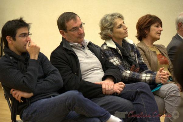 Stéphane Sanchis, élu à Créon, Daniel Coz, Maire de Sadirac, Isabelle Merouge et Cathy Gallo, élus à Créon