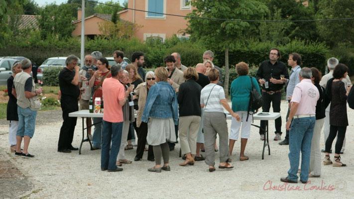 Apéritif inaugural en hommage aux bénévoles, Festival JAZZ360, Cénac. 04/06/2011