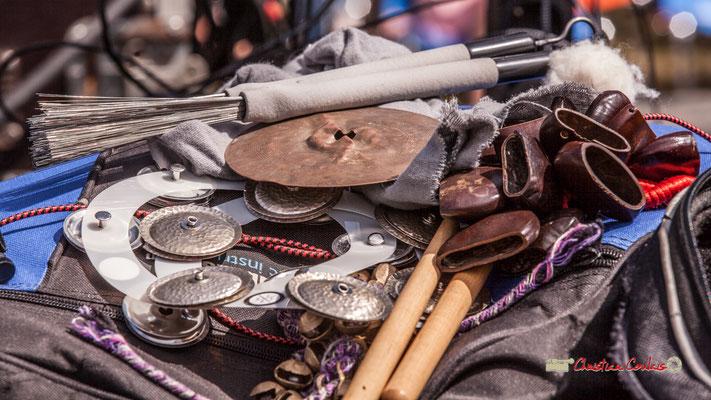 """""""Les outils du percussionniste"""" Simon Pourbaix; Loïc Cavadore Trio. Festival JAZZ360 2019, Camblanes-et-Meynac. 08/06/2019"""