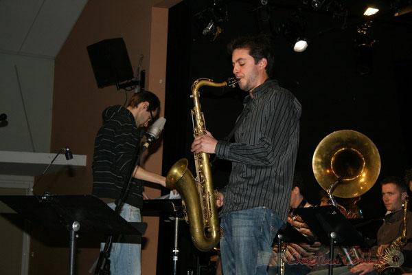 Solo de saxophone. Big Band du Conservatoire Jacques Thibaud, section Musiques Actuelles Amplifiées-Jazz. Festival JAZZ360 2010, Cénac. 14/05/2010